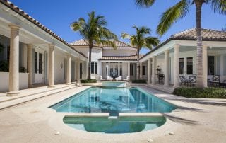Luxury swimming pool and fountain by molinari pools outdoor