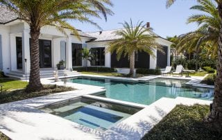 Luxury designer outdoor swimming pool and spa in vero beach Molinari Pools